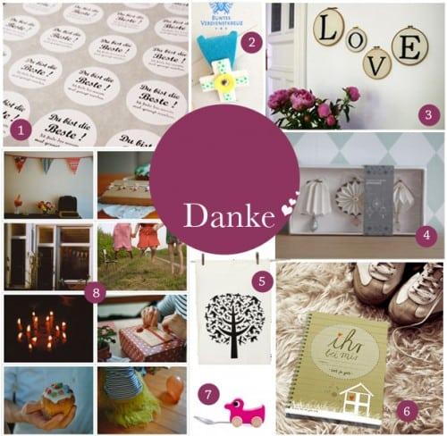 """Acht kleine Geschenke, mit denen man wunderbar """"Danke"""" sagen kann ..."""