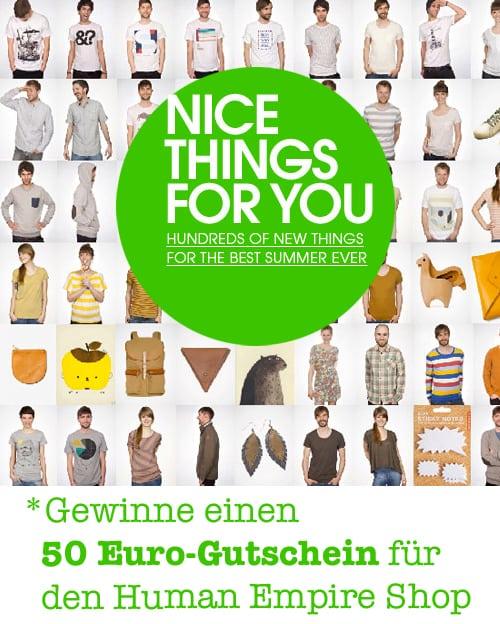 7ab7e01dc10213 50 Euro Gutschein für den schönen Human Empire Online-Shop - Ohhh ...