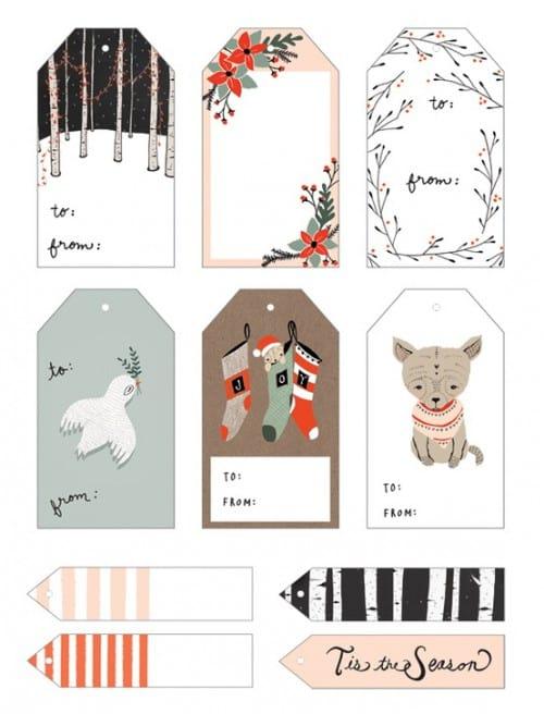 Hübsches Geschenkpapier Und Anhänger Zum Runterladen Und Ausdrucken