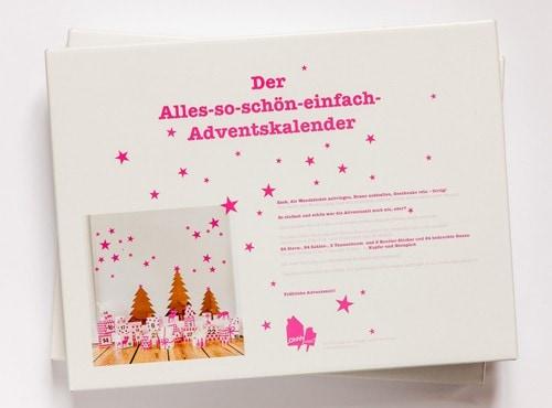 Verpackung Adventskalender