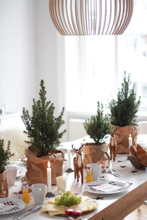 Die b umchen dekoration in aktion oder inge k nnen wir Dekoration weihnachtstischdeko