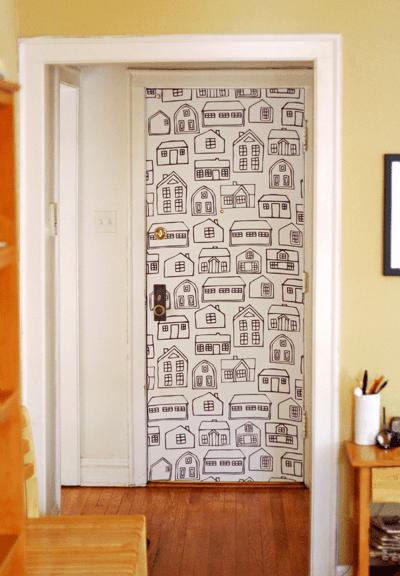 DIY-fabric-wallpaper