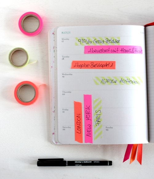 Kalender mit Masking Tape organisieren OhhhMhhh