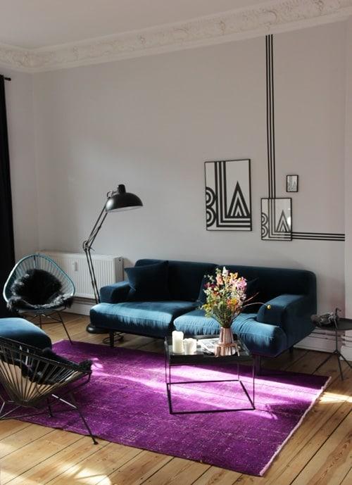 ikea teppich andrea designer teppich mit modern grau. Black Bedroom Furniture Sets. Home Design Ideas