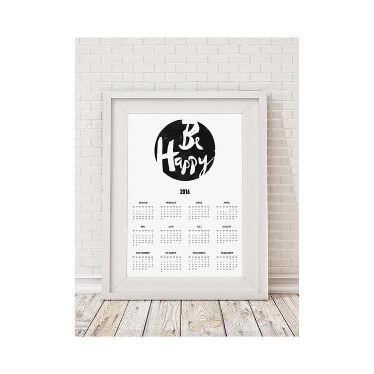 Poster Kalender Be Happy 2016 Von Jutebeutel Wei Ohhh