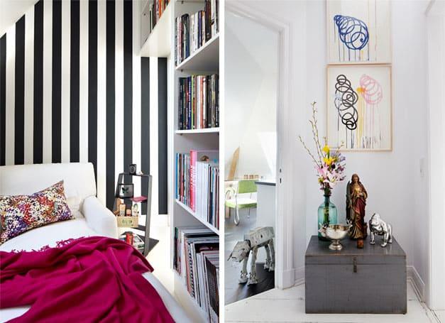 Bilderdoppel wie eine Wohnung ein zuhause wird