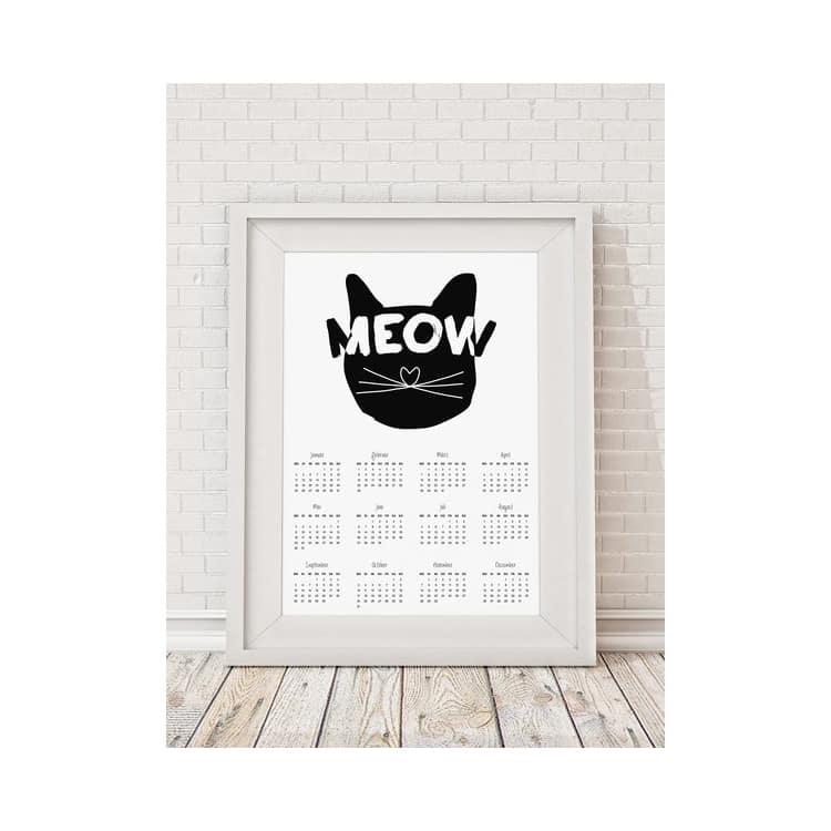 Poster Kalender Meow Von Jutebeutel Ohhh Mhhh