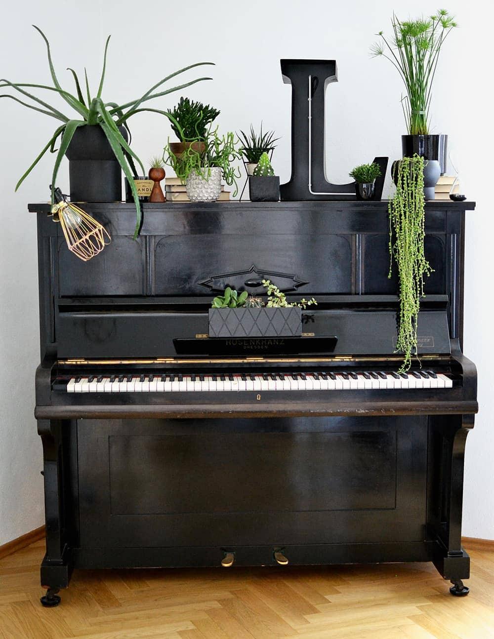 Wohnen in Gruen Klavier